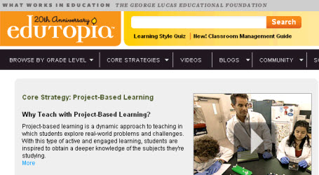 Edutopia website (George Lucas Educational Foundation)