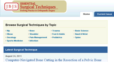 JBJS Surgical Techniques website