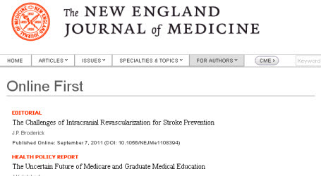 New England Journal of Medicine online