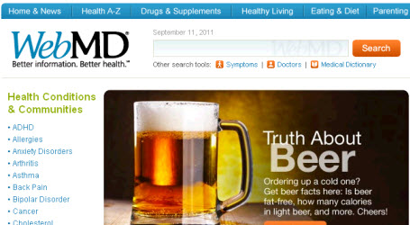 Web MD website