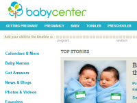 BabyCenter website
