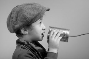 boy with can phone