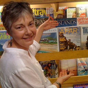 Susan West with Afar magazine's premiere issue