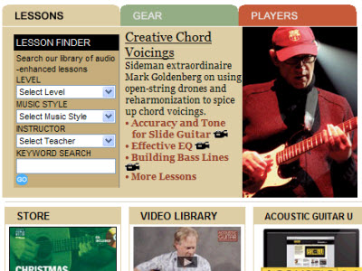 Acoustic Guitar website